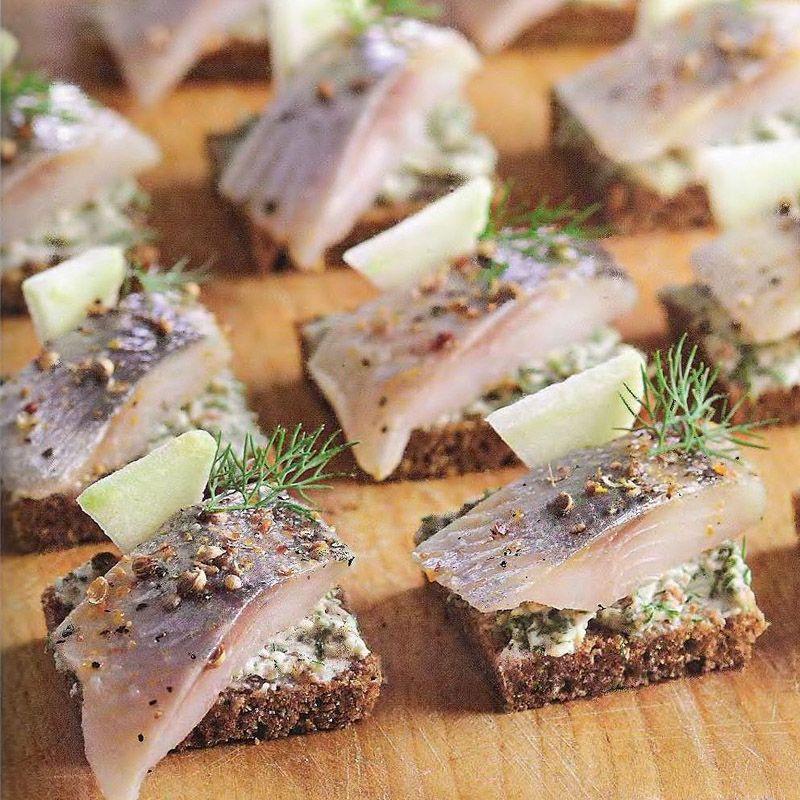 Бутерброды с чёрным хлебом рецепт