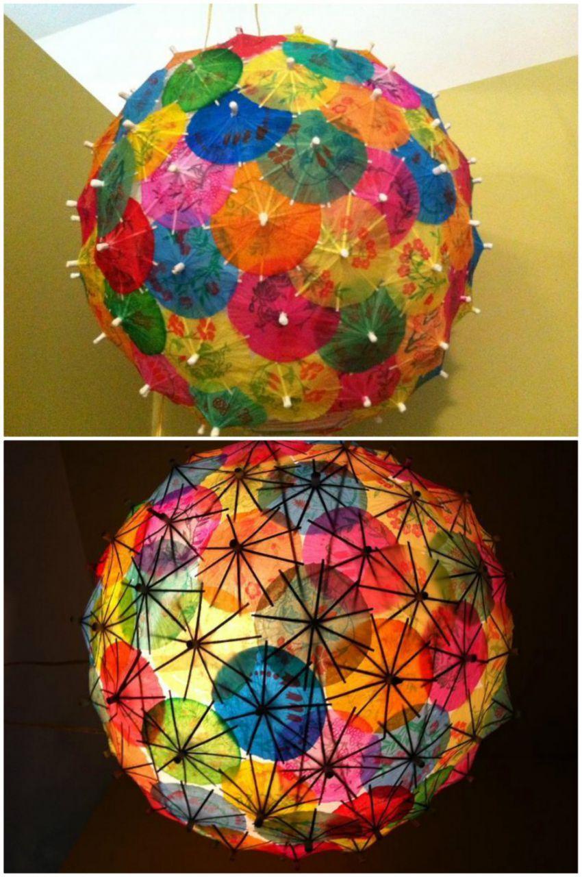 Светильники из подручных материалов своими руками фото